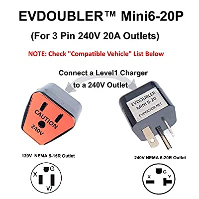 Fits Fiat. The Amazing EVDOUBLER is a Low Cost Upgrade for Your Level 1 Charger Just Plug it in and Charge Fast Like a Level 2 Electric Vehicle Car EVSE Charger.