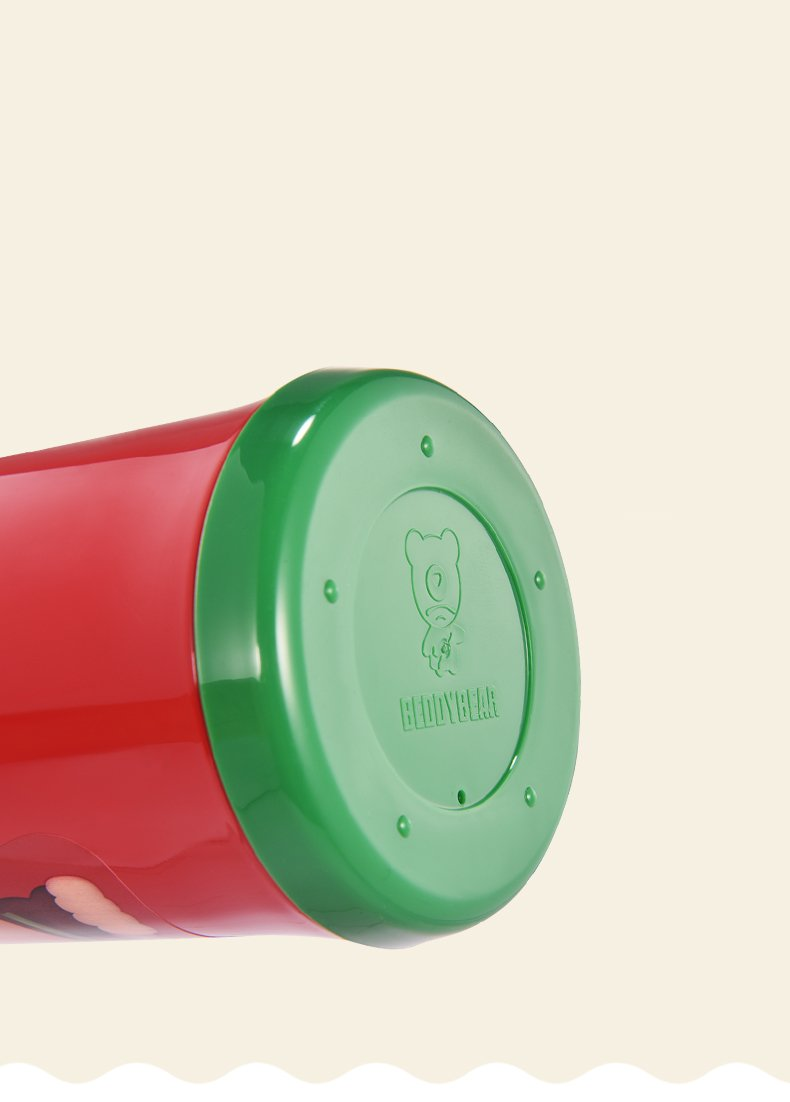 Beddybear child thermos cup with straw,replacement lockable lid, Portable Rope