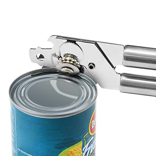Becko's Manual professional heavy duty stainless steel can opener adopts sharp blades and delicate gears applying to standard size cans (Silver)