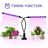 Timing Function Dual Head Grow light, Balleen.E 36 LEDs Grow Lamp Bulb, 360° Flexible, 3/6/12H Timer, 5 Dimmable Levels for Indoor Plants Hydroponics Greenhouse Gardening Plant [2018 UPGRADED] For Sale