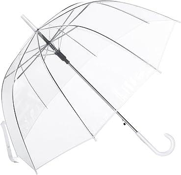 Paraguas Transparente Mujer, con Forma de Cúpula y Función ...