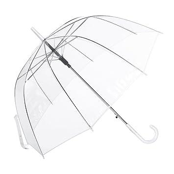 prix compétitif 3ac14 fa30e Parapluie Canne Transparent, Cloche Dome Bubble Parapluie Automatique Femme  , Décoration de Mariage Champignons à Parapluie Romantiques Formes de ...
