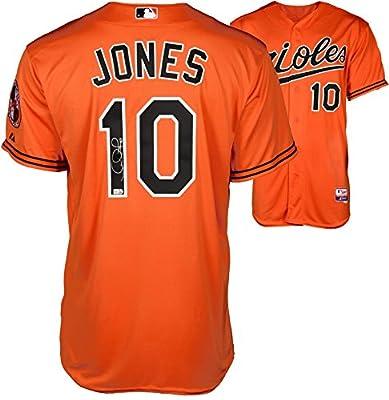 Adam Jones Baltimore Orioles Autographed Orange Authentic Jersey - Fanatics Authentic Certified - Autographed MLB Jerseys