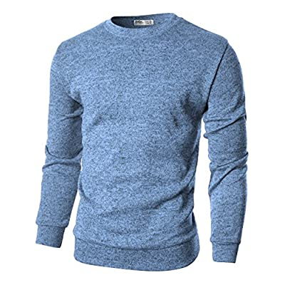 Hot Ohoo Mens Slim Fit Crew-Neck Pullover Sweater free shipping