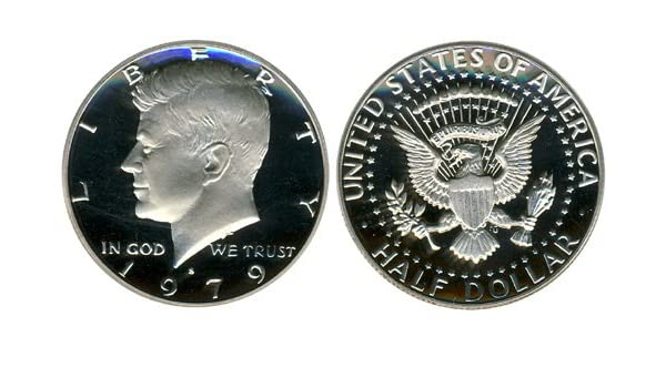 1981 S  Kennedy Mint Proof Half Dollar from Original Proof Set ~ Type 1 Filled S