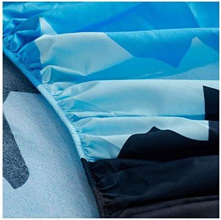 JYBHSH Polyester imprimé Matelas série avec Quatre Coins et Feuilles Bande élastique (Color : Heigezi, Size : 140X200X25cm)