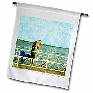 Florene Impressionism Art - Baiting The Hook - 18 x 27 inch Garden Flag (fl_37229_2)