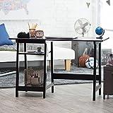 Cheap Manhattan Open Computer Desk with Adjustable Shelf – Black