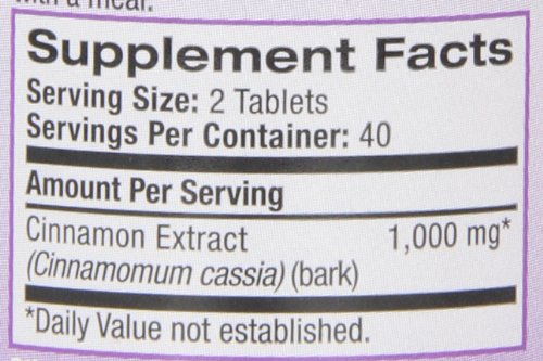 Natrol Cinnamon Extract 1,000mg, 80 Tablets (Pack of 4) Photo #10
