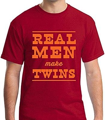 Raw T-Shirt's Funny Dad - Real Men Make Twins Men's T-Shirt