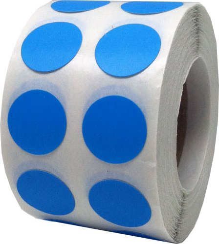 Color Coding Labels Light Blue Round Circle Dots For Organizing Inventory 1/2 Inch 1,000 Total Adhesive Stickers