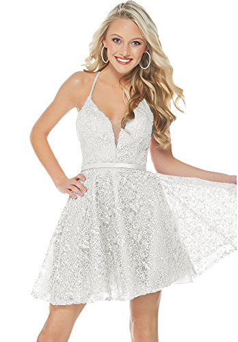 Ivory Dresses J96 Lace Dress Junior's Beauty Homecoming Prom Bridal Neck Short 2019 V 7YPW18
