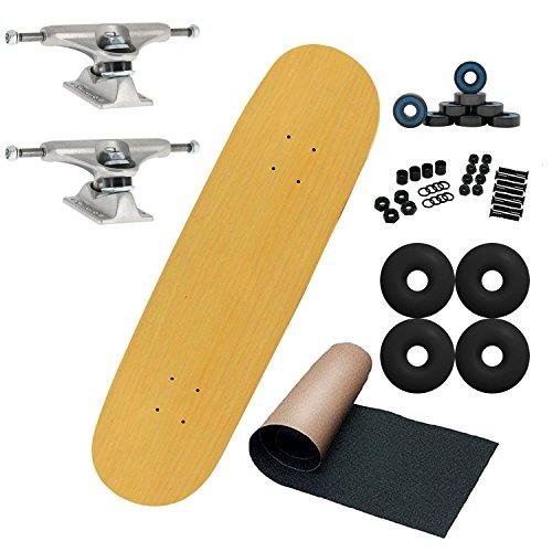 7.5 Skateboard Deck Decks (Moose Pro Complete Unassembled Skateboard, Natural, 7.5