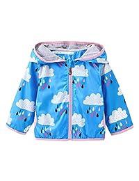 Baby Boys Girls Sun Protective Clothing Cloud & Rain Zipper Hoodies Coat Jackets