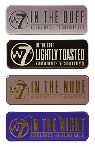 W7's Ultimate Eyeshadow Collection with Natural Nudes and Smokey Shades - Four
