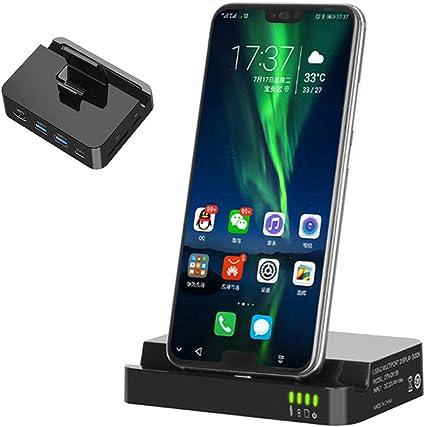 QKa Smart Phone TV Dock, Adaptador De Teléfono A HDMI con 2 ...