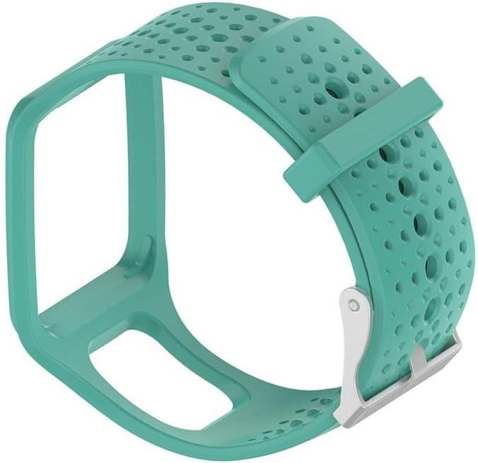 Cracklight Banda de Reloj de Pulsera de Silicona Banda de Reloj de Silicona Suave para Tomtom Multi Sport/Cardio GPS