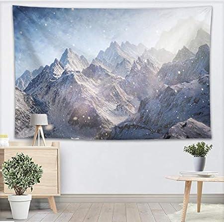 YUYINGXIANG Sunrise Snow Mountain Wall Tapiz Decoración para ...