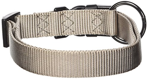 - Hamilton Gun Metal Series Adjustable Dog Collar, 1-Inch, Moonstone