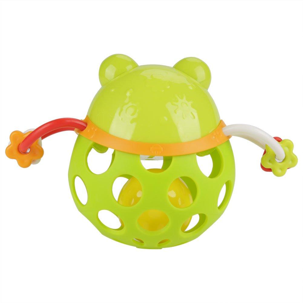 Fdit Baby Soft Teether Rassel Toy Kinder Lernspielzeug Cute Cartoon Animal Handbell Baby Rassel f/ür Kinder und Jungen Frog