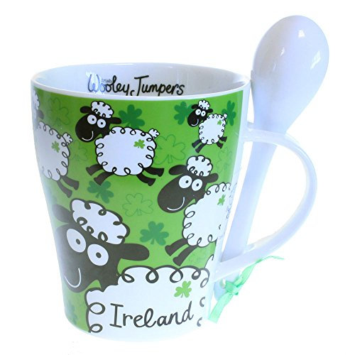 Irish Mug And Spoon Set, Woolley Jumpers