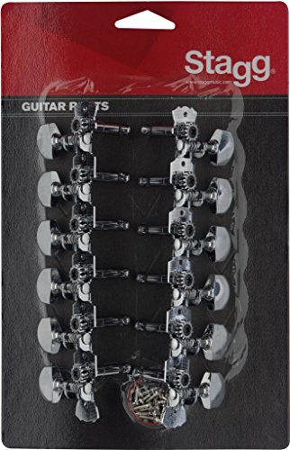 Stagg KG679 Chrome Machine Heads for 12-String Western or Dreadnought Acoustic Guitar