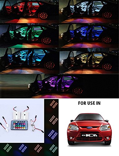 Volga Car Roof Dome 24 Led Smd Light With Multi Setting Remote For Ford Ikon Amazon In Car Motorbike