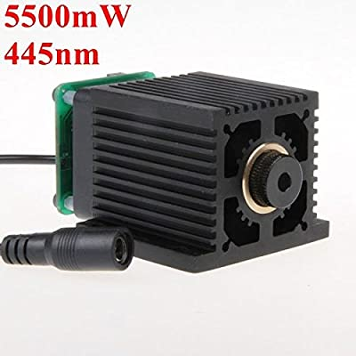 KAMOLTECH 445nm 5.5W 5500mW Blue Laser Module With Heatsink For DIY Laser Cutter Engraver