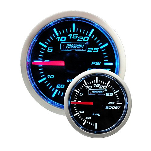 Electric Boost Gauge- Blue/white Performance Series 52mm (2 1/16