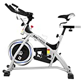 ANCHEER Indoor Cycling Bike, Belt Drive Indoor Exercise Bike With 40LBS Flywheel, Pulse