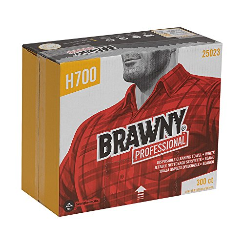 GP PRO Brawny Professional 25023 H700 Disposable Cleaning Towel, Flat Pack, White
