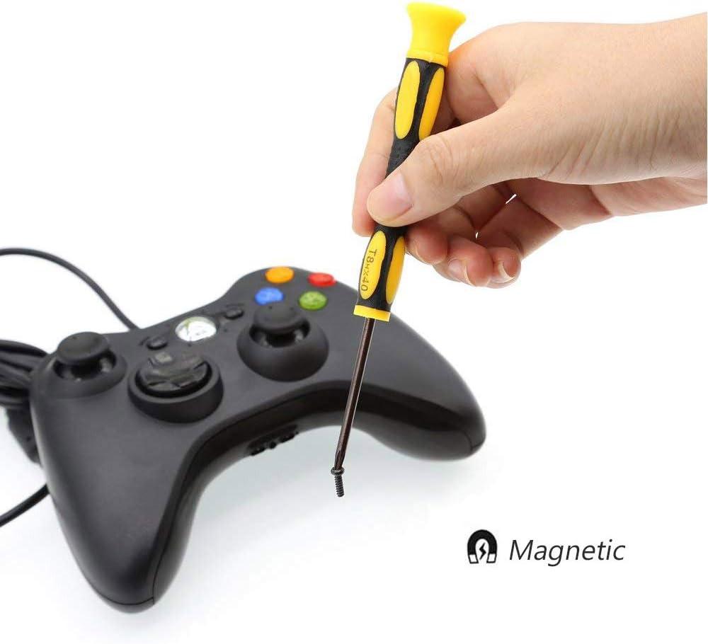T6/T8/T10/S/écurit/é de tournevis Torx pour Xbox One Manette Xbox 360/PS3/PS4/Outil de r/éparation kit avec Safe regards indiscrets Spudger Brosse de nettoyage