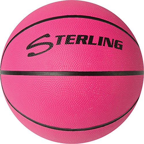 Sterling Neon Pink Junior Size 5 Rubber Basketball
