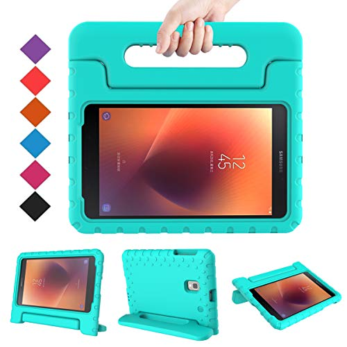 BMOUO Kids Case for Samsung Galaxy Tab A 8.0 2017 (SM-T385 / T380) - Light Weight Shockproof Protective Handle Stand Kids Case Cover for Samsung Galaxy Tab A 8.0 inch 2017 T380 T385 Tablet - Turquoise (Lenovo Tablet Case S8)