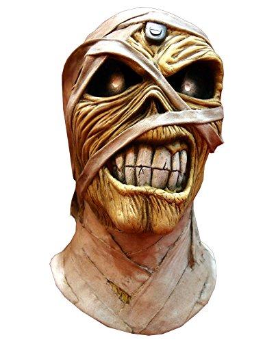 Trick or Treat Studios Iron Maiden Powerslave Full Head Mask, Beige, (Iron Maiden Halloween)