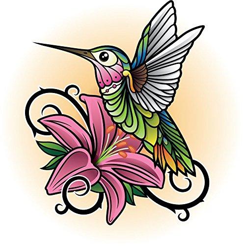 innagrom Hummingbird Home Decal Vinyl Sticker 12'' X 12''