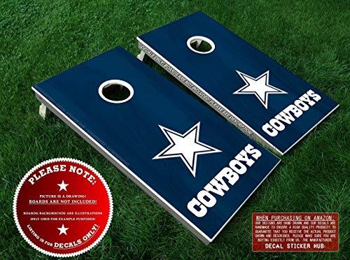 - Dallas Cowboys Cornhole Decals | COLOR CHOICE | Six (6) Vinyl Decals for DIY Board Building & Decorating | Decal Sticker Hub