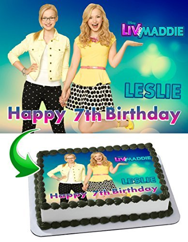 Liv and Maddie Edible Cake Topper Personalized Birthday 1/4 Sheet Decoration Custom Sheet Party Birthday on Wafer Rice Paper
