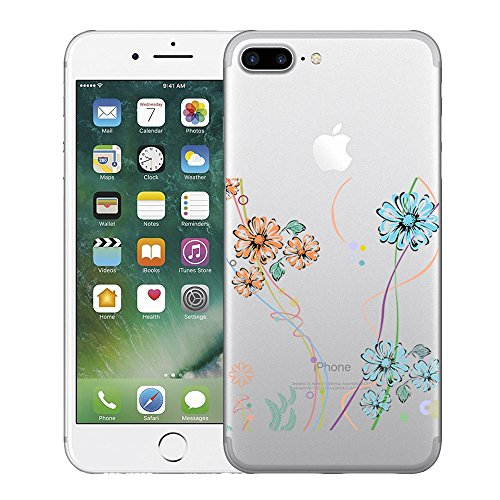 Funda iPhone 7 Plus Carcasa Silicona Gel Mate - Wouier® Case Ultra Delgado TPU Goma Flexible Transparente UltraSlim Case Cover Skin para iPhone 7 Plus F