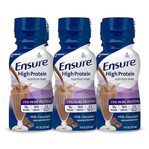 Ensure High Protein Therapeutic Nutrition, Milk Chocolate, 8 oz Bottles - Case of 24