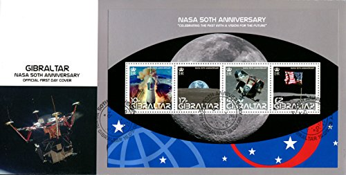 1st Lunar Landing (NASA Apollo 11 * First Manned Mission to Land on the Moon * Stunning FDC of: Apollo Liftoff * Lunar Landing Module Leaving the Moon * Earth-Rise from the Moon * US Flag Planted on the Moon ( FDC Gibraltar 2008 {first day cover} This is a hard to find FDC!)
