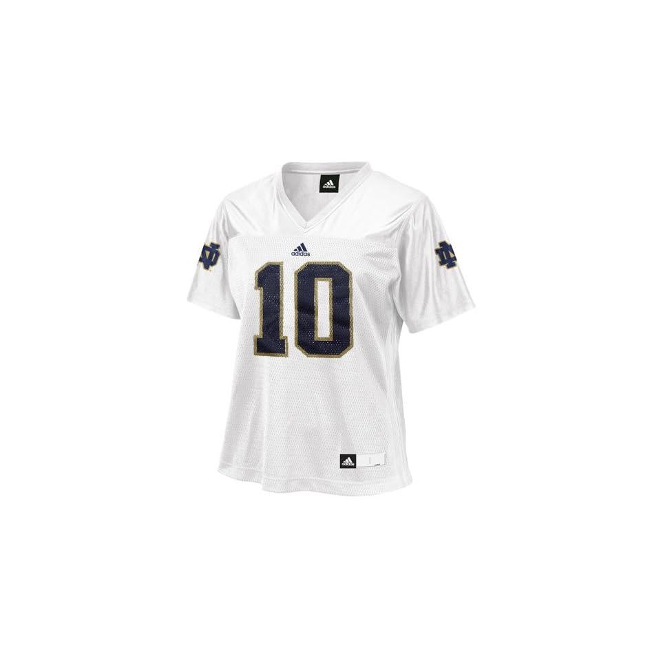 NCAA adidas Notre Dame Fighting Irish #10 Womens Fashion Football