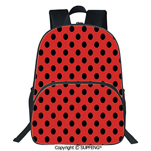 - SCOXIXI School Back Retro Vintage Pop Art Theme Old 60s 50s Rocker Inspired Bold Polka Dots Image (15.75