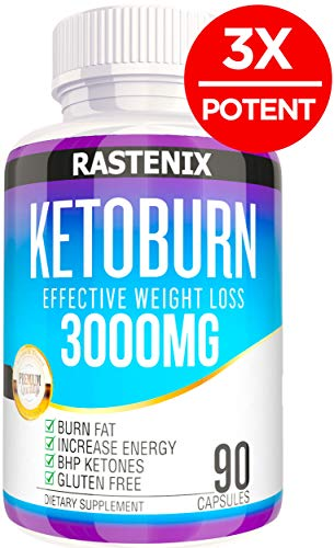 Best Keto Pills - 3X Potent (3000mg | 90 Capsules) - Weight Loss Keto Burn Diet Pills - Boost Energy and Metabolism - Exogenous Keto BHB Supplement for Women and Men - 90 Capsules (Best Pills To Lose Weight 2019)