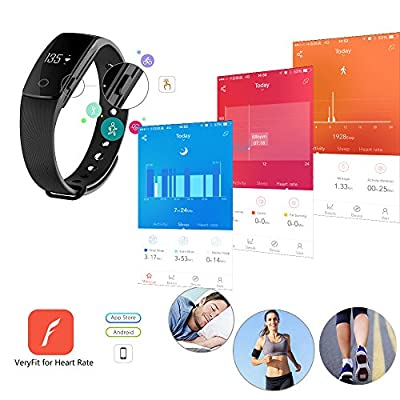 RIVERSONG Fitness Tracker Wave HR Heart Rate Monitor Activity Tracker Smartband Pedometer Sleep Quality Tracker Steps Distance Calories Burned Monitor for Sports (Green)