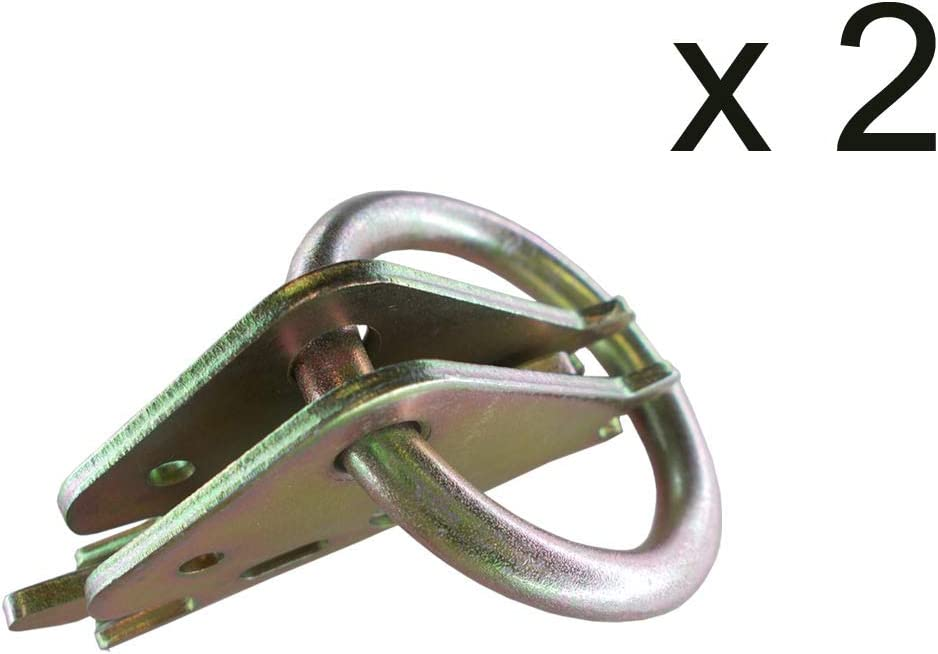 10 PCS E-Track O Ring Tie-Down Anchors w//E Track Spring Fittings Steel O-Rings Tie Down Cargo Loads to ETrack TieDown System
