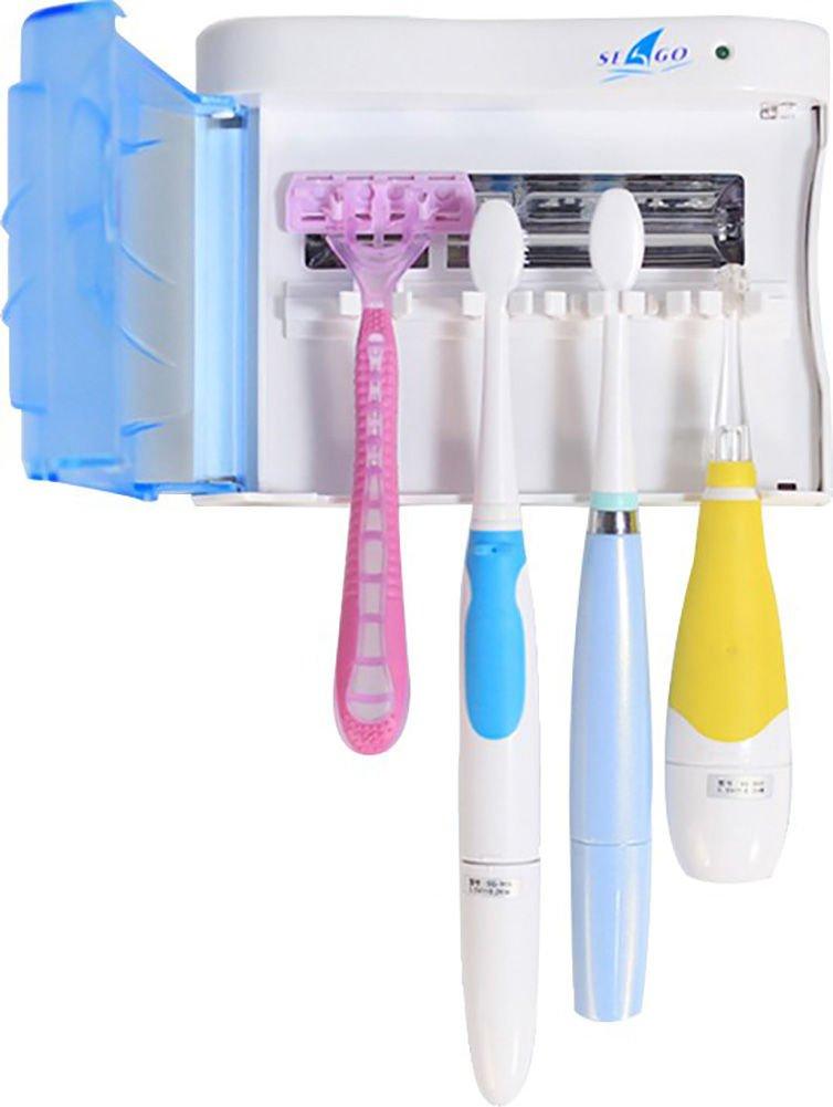 seago- pared portátil Sanitizer cepillo de dientes UV 6 - 8 Minuto temporizador sanificante cepillos de dientes Soportes Tamaño de la familia por Happy ...