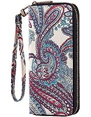 HAWEE Long Wristlet Handbag Leather Zipper Wallet for Cellphone Card Holder Coin Purse