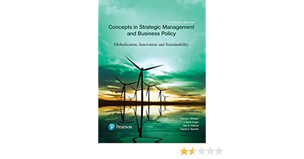 Amazon Com Concepts In Strategic Management And Business Policy