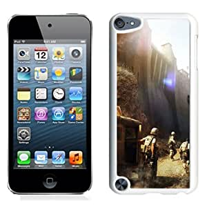 iPod Touch 5th case,Operation Flashpoint Red River Dam Soldiers Technics Helicopters White iPod Touch 5th Generation cover